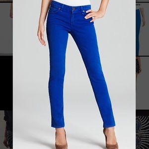 J Brand Jeans Cobalt Blue Skinny Jeans Twill